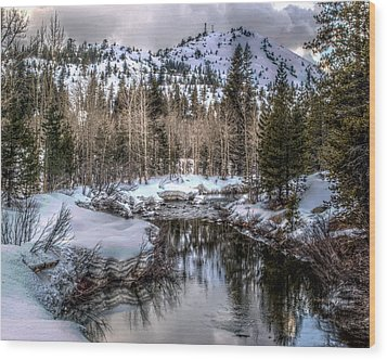 Wood Print featuring the photograph A Winters Peace Of Reflection by William Havle
