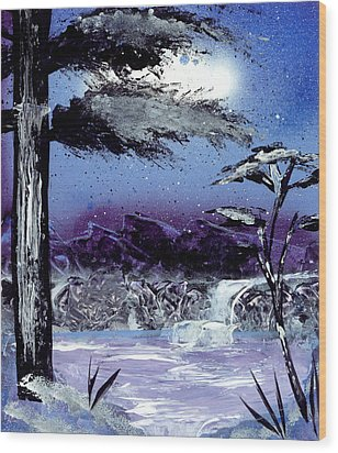 A Winters Valley Wood Print by Marc Chambers