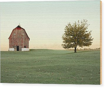 A Wisconsin Postcard Wood Print by Todd Klassy