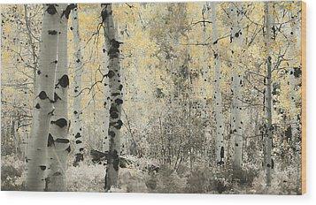 A Wisp Of Gold Wood Print