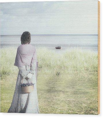 A Woman And The Sea Wood Print by Joana Kruse