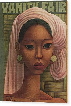 A Woman From Bali Wood Print by Miguel Covarrubias