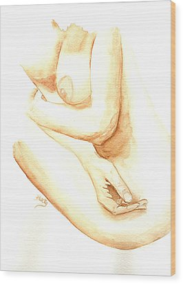 A Woman's Touch Wood Print by Donna Blackhall