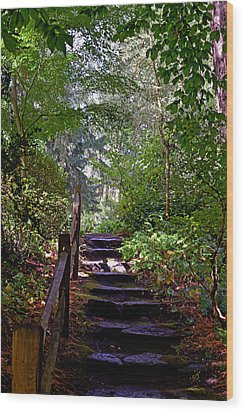 A Wooded Path Wood Print