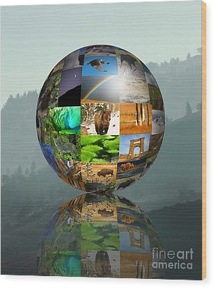 Wood Print featuring the photograph A Yellowstone World by Clare VanderVeen
