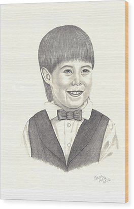 A Young Boy Wood Print by Patricia Hiltz
