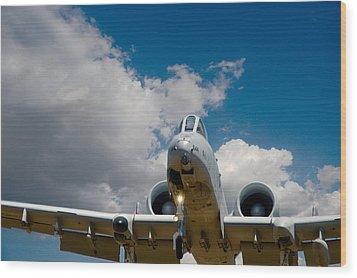 A10 Warthog Approach Landing Wood Print