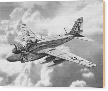 A6 Intruder Wood Print by Douglas Castleman