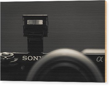 Wood Print featuring the photograph a6000 Sony by Wade Brooks