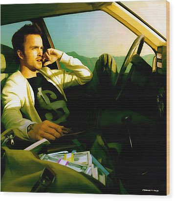 Aaron Paul Wood Print