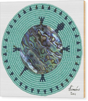 Abalone Shell Wood Print