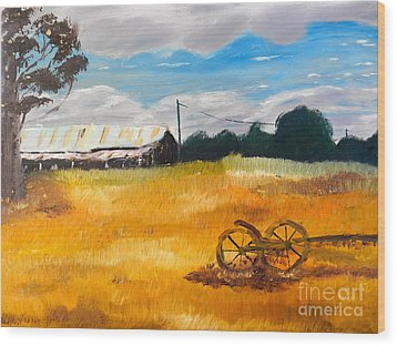 Abandon Farm Wood Print