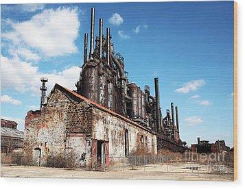 Abandoned Bethlehem Steel Wood Print