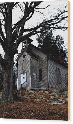 Abandoned Wood Print by Carlee Ojeda