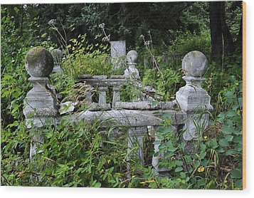 Wood Print featuring the photograph Abandoned Cemetery 2 by Cathy Mahnke