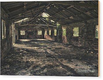 Abandoned Wood Print by Amanda Elwell