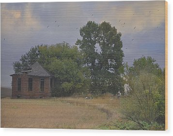 Abandoned Country House In Rural Northwest Iowa Wood Print