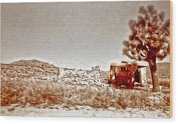 Abandoned Desert Trailer Wood Print by Gregory Dyer