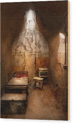 Abandoned - Eastern State Penitentiary - Life Sentence Wood Print by Mike Savad