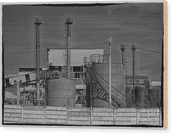 Abandoned Factory At Vadu Wood Print by Gabriela Insuratelu