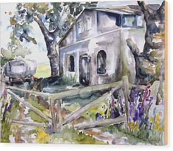 Abandoned Farm  Nossentin Wood Print by Barbara Pommerenke
