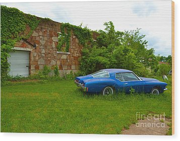 Wood Print featuring the photograph Abandoned Gym And Car by Utopia Concepts
