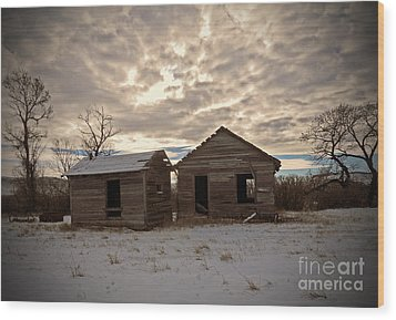 Abandoned History Wood Print by Desiree Paquette
