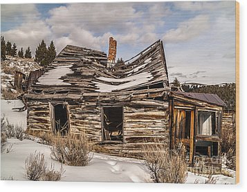 Abandoned Home Or Business Wood Print by Sue Smith