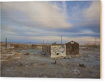 Abandoned Home Salton Sea Wood Print by Hugh Smith