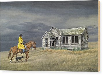 Abandoned Homestead-eastern Idaho Wood Print by Paul Krapf