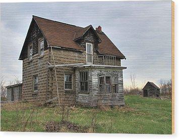 Abandoned Homestead Wood Print by Jim Vance