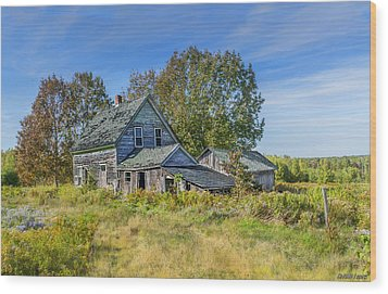 Abandoned House In Wentworth Valley Wood Print by Ken Morris
