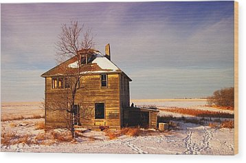 Abandoned House Wood Print by Jeff Swan