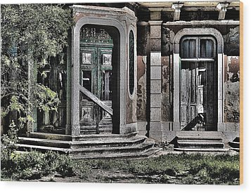 Abandoned House Wood Print by Marco Oliveira