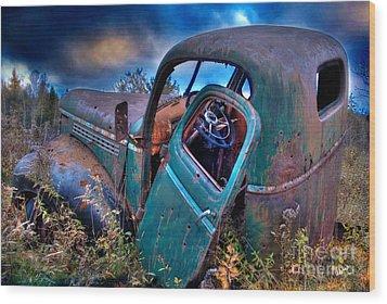 Abandoned II Wood Print