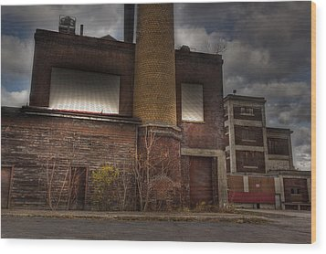 Abandoned In Hdr 2 Wood Print by Tim Buisman
