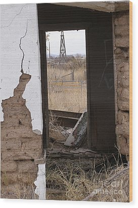 Abandoned In Texas Wood Print