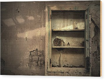 Abandoned Kitchen Cabinet Wood Print