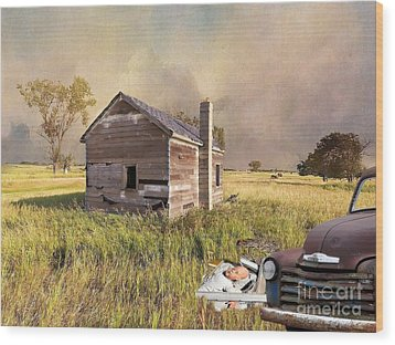 Wood Print featuring the photograph Abandoned by Liane Wright