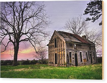 Abandoned Memories - Gateway, Arkansas Wood Print by Gregory Ballos