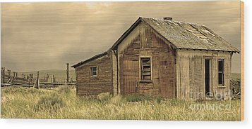 Wood Print featuring the photograph Abandoned by Nick  Boren