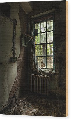 Abandoned - Old Room - Draped Wood Print by Gary Heller