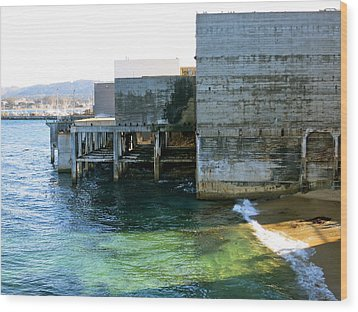 Wood Print featuring the photograph Abandoned On Cannery Row by Paul Foutz