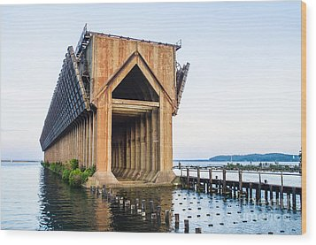 Abandoned Ore Dock Marquette Michigan Wood Print