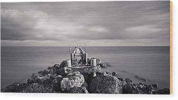 Abandoned Pier Wood Print by Adam Romanowicz