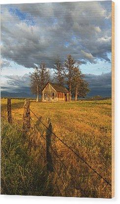 Abandoned Wood Print by Randy Wood