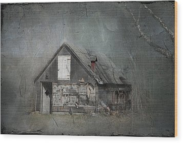Abandoned Shack On Sugar Island Michigan Wood Print by Evie Carrier