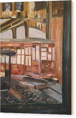 Abandoned Streetcar In Savannah Wood Print by Christina Campo-Abdoun