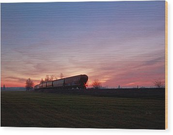 Wood Print featuring the photograph Abandoned Train  by Eti Reid