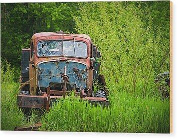 Abandoned Truck In Rural Michigan Wood Print by Adam Romanowicz